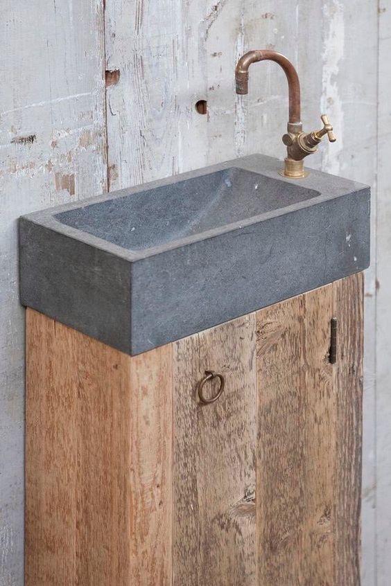 industrieel toilet wastafel ontwerp