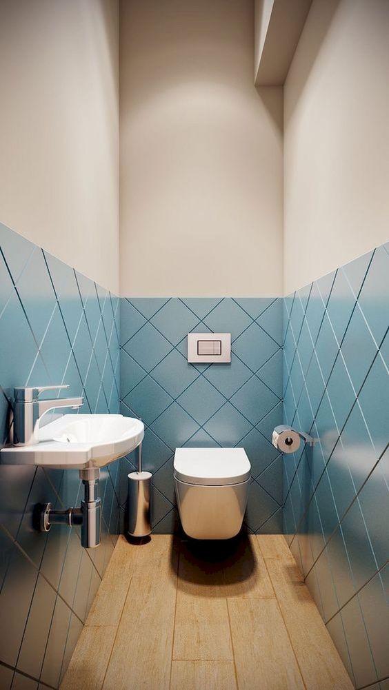 unieke blauwe toilettegels