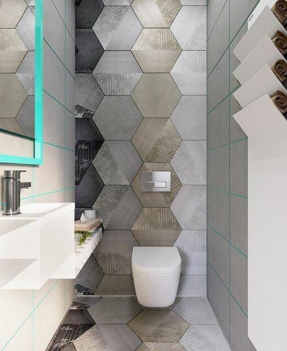 moderne toilet tegels