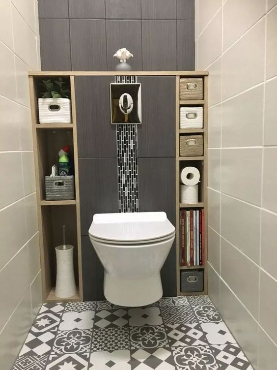 modern toilet met opbergruimte