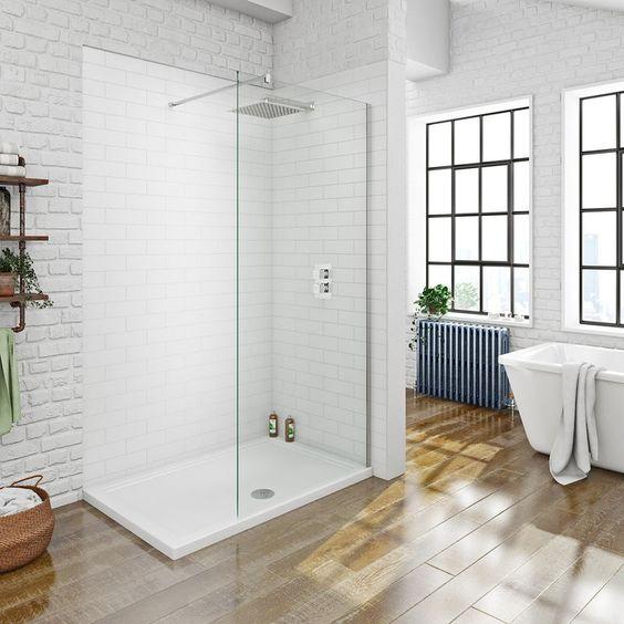 glazen inloopdouche in de badkamer idee 7